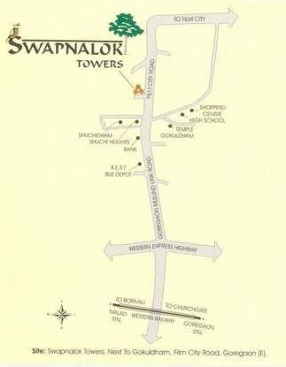 Ashish Swapnalok Towers Location Plan