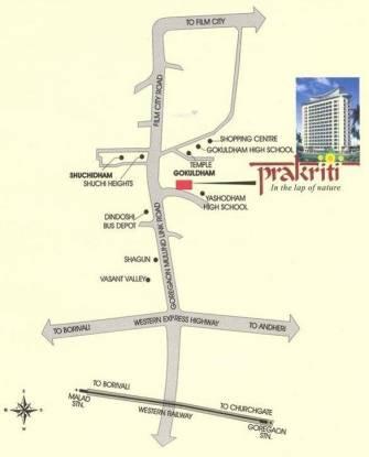 Ashish Prakriti Location Plan