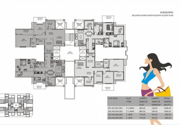 Shreyas Palladium Exotica Cluster Plan