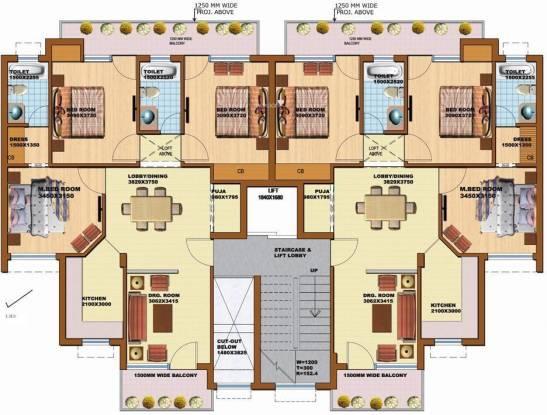 pearl-floors Tower 10 Cluster Plan
