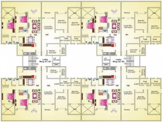 acacia Building-2 Cluster Plan