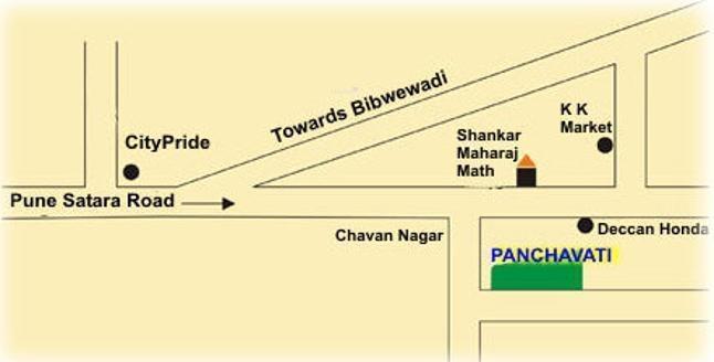 Purple Panchavati Location Plan