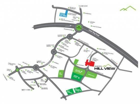 Oorjita Hill View Location Plan