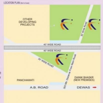 Sarthak Singapore Township Phase I Villa Location Plan