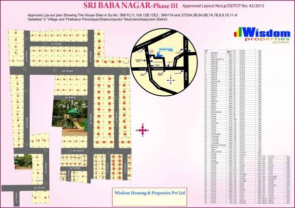 Wisdom Sri Baba Nagar Ph 3 Layout Plan