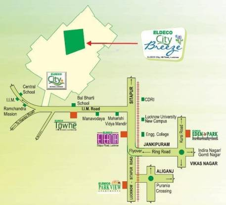 Eldeco City Breeze Location Plan