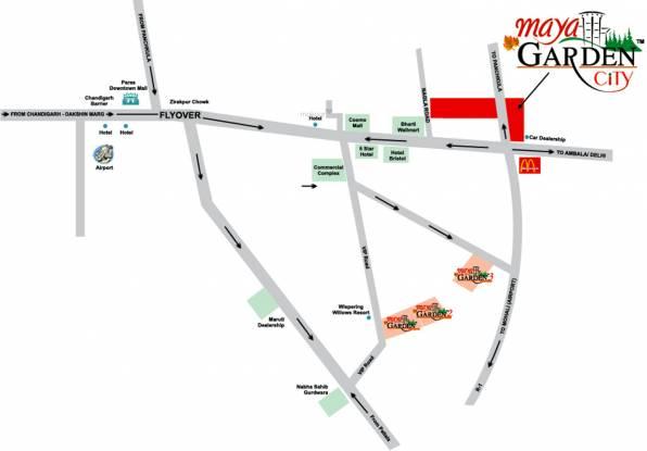 Maya Garden City Location Plan