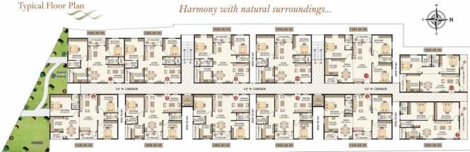 Amrutha Residency Cluster Plan