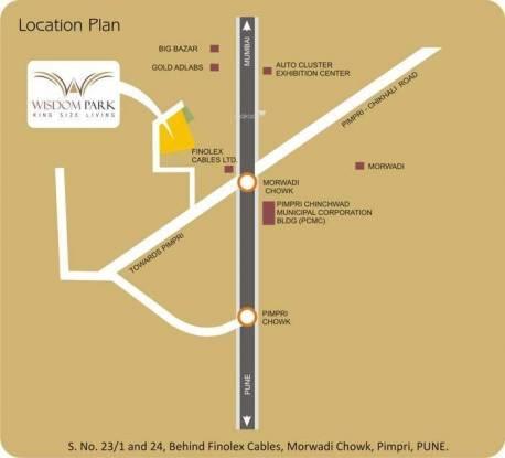 Chandrarang Wisdom Park Location Plan