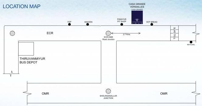 Casagrand Versailles Location Plan