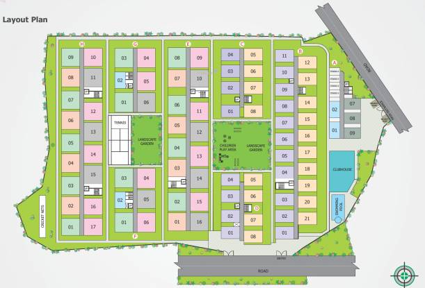 Modi Lotus Homes Layout Plan