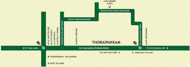 Casagrand Aldea Location Plan