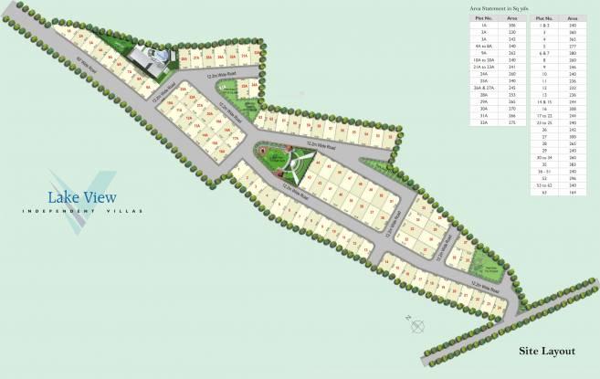 Vertex Lake View Layout Plan