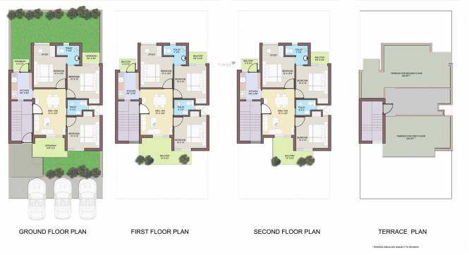 BPTP Park Elite Floors Cluster Plan