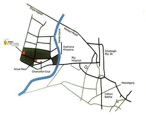 Ansal Orchid Greens Apartment Location Plan