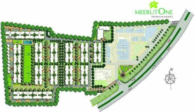 Alpha Meerut One Layout Plan