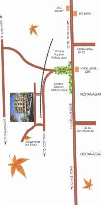 Keerthi Residency Location Plan