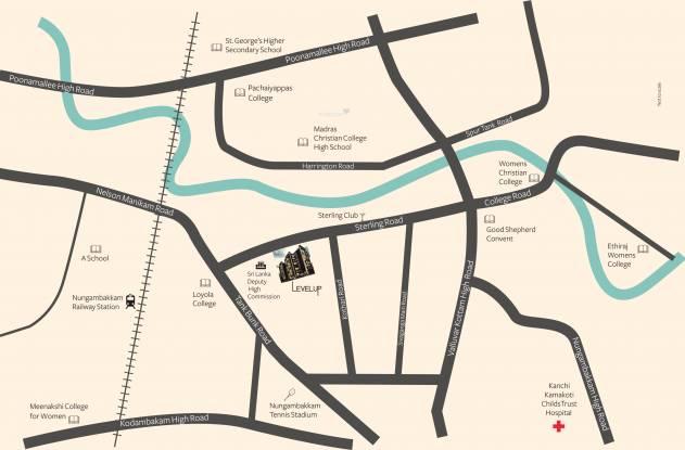 Akshaya Level Up Location Plan