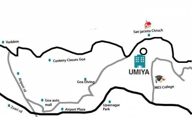 Umiya Seascapes Row Villas Location Plan