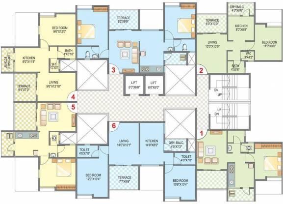 Belvalkar Kalpak Homes Cluster Plan
