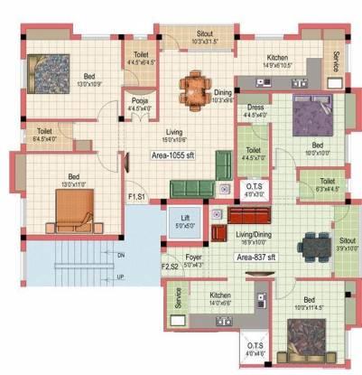 Kanakadhara Thiruvengadam Cluster Plan