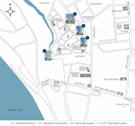 Neminath Imperia Location Plan