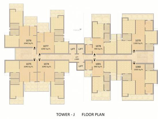 14th-avenue Tower A Cluster Plan