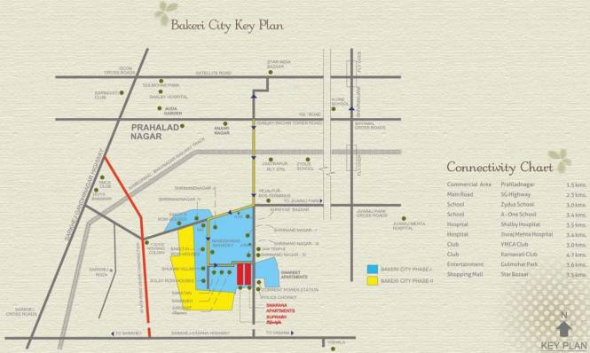 Bakeri Smarana Apartments Location Plan