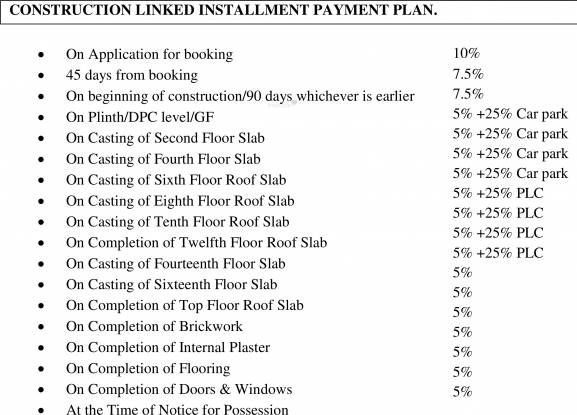 greens Images for Payment Plan of Vipul Greens