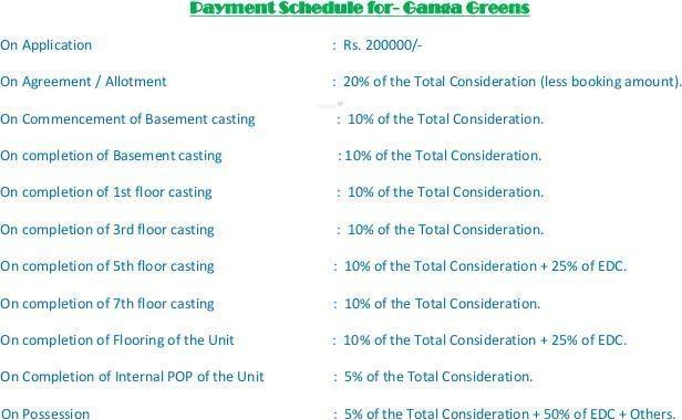 Dynamo Ganga Greens Payment Plan