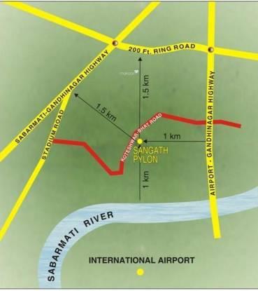 pylon Images for Location Plan of Sangath Pylon