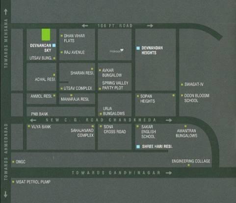 Devnandan Homes Location Plan