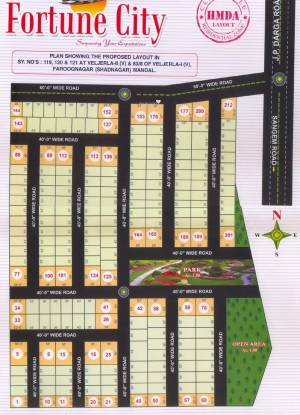 Bhashyam Fortune City Layout Plan