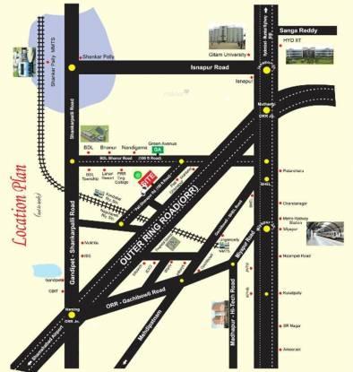 Bhashyam Golden County Location Plan