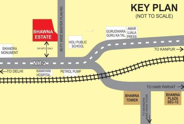 Bhawna Estate Apartment Location Plan