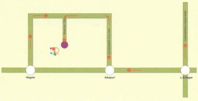 Square Prasoona Location Plan