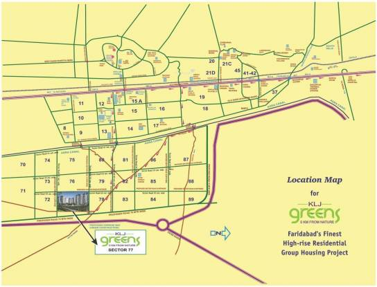 KLJ Greens Location Plan