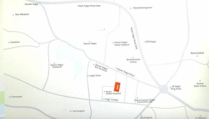 Manasa Vensa Ashraya Location Plan