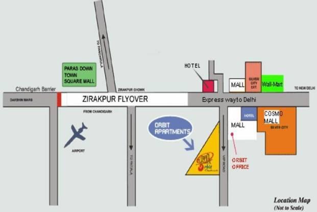 Orbit Orbit Apartments Location Plan