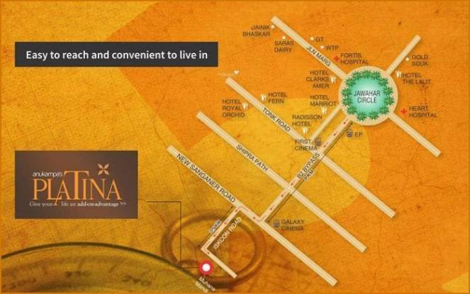 Anukampa Platina Location Plan