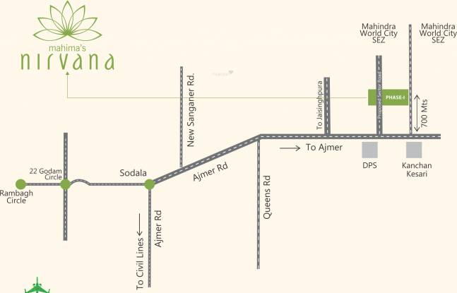 Mahima Nirvana Location Plan