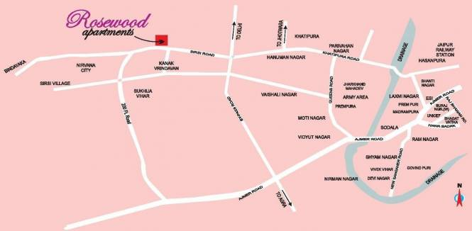 Upasna Rosewood Apartments Location Plan