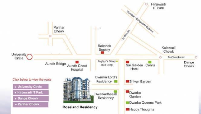GK Roseland Residency Location Plan