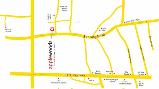 Applewoods Sidalcea Location Plan