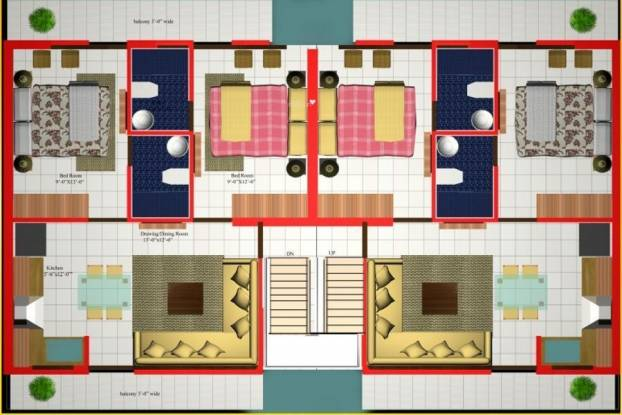 Dara The D Homes Cluster Plan