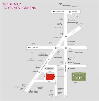 Happy Home Capital Greens Location Plan
