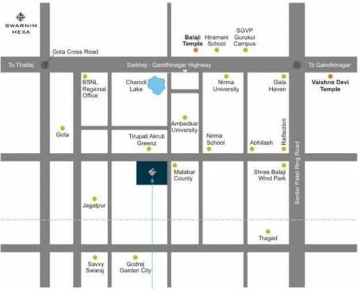 Golden Swarnim Square Location Plan
