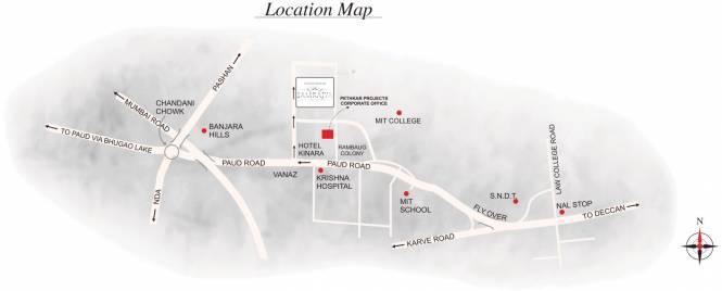 Pethkar Samrajya Location Plan