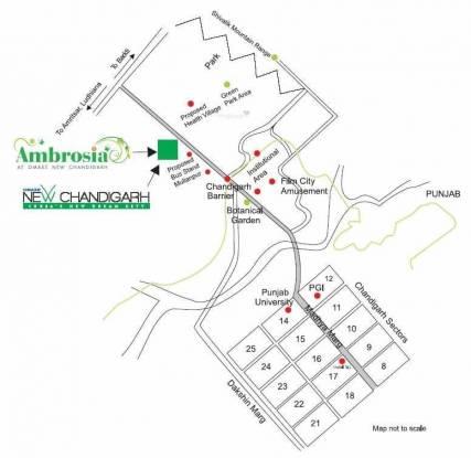 Omaxe Ambrosia Location Plan
