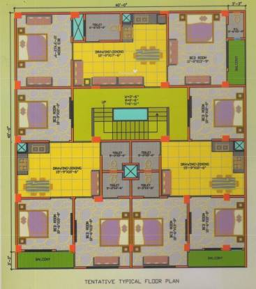 Pure Royal Style Apartment Cluster Plan